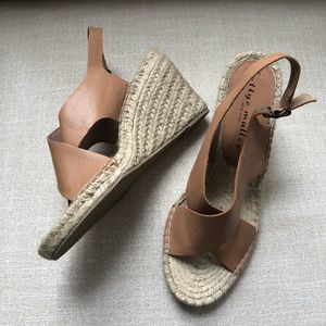 Bettye Muller Venus Wedge Espadrille Tan 8.5 NWOT